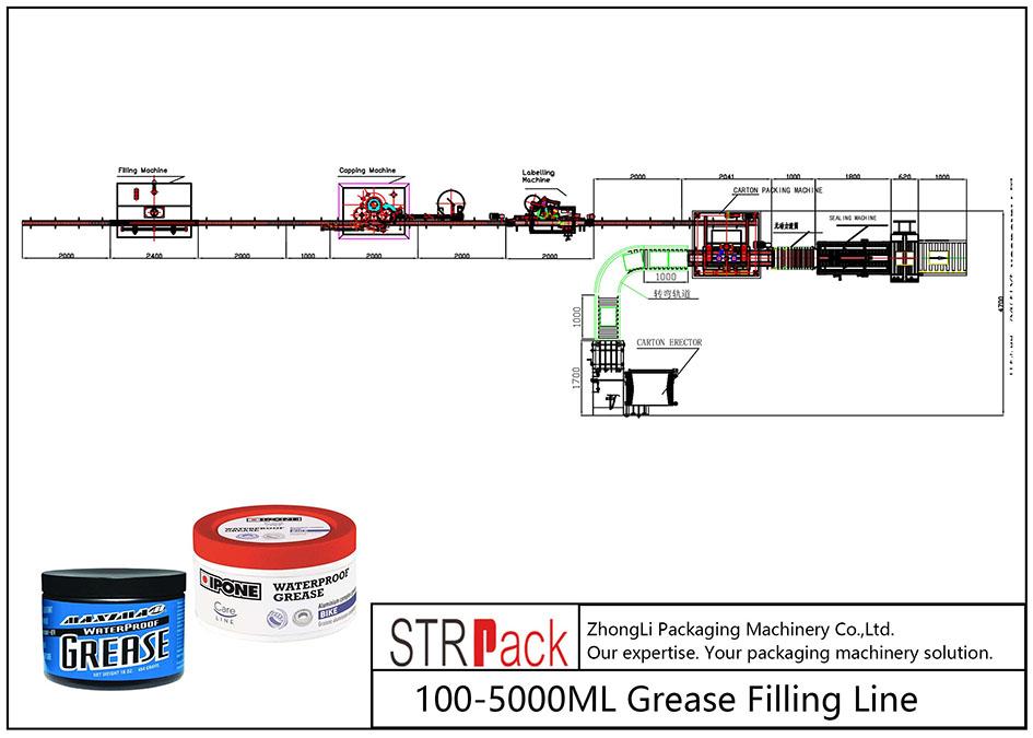 100ML-5L koipe betetzeko linea automatikoa
