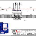 200L olio lubrifikatzaile betetzeko linea automatikoa