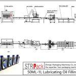 50ML-1L olio lubrifikatzaile betetzeko linea automatikoa